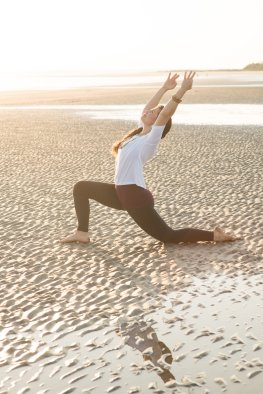 """Ashley Bell (image by Leigh Webber for Charleston magazine's January 2017 issue // see """"Get Fit: Yoga"""" above)"""