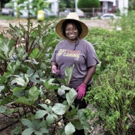 "Germaine Jenkins of Fresh Future Farm (image by Christopher Shane for Charleston magazine's November 2015 issue // see ""Community Catalyst"" above)"