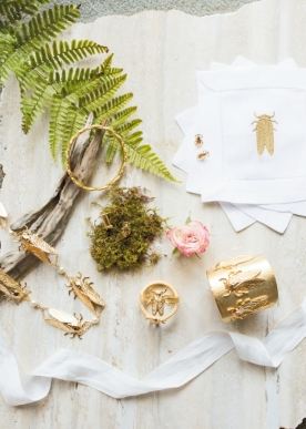 "Mini Hay's Goldbug collection (Image by Lindsay Webber for Charleston Weddings magazine's spring 2017 issue // See ""Goldbug Goodies"" above)"