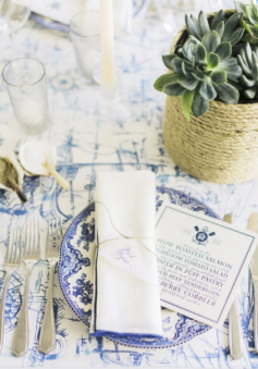 """Image by Corbin Gurkin // event design by Tara Guérard Soirée // featured in the fall/winter 2015 issue of Charleston Weddings magazine // see """"Making Waves"""" above"""