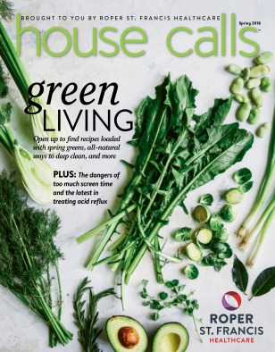 Cover of the spring 2018 issue of House Calls magazine // image by Helene Dujardin